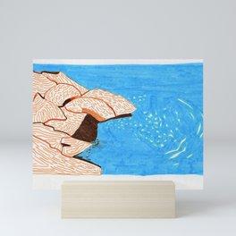 Graphic waves Mini Art Print