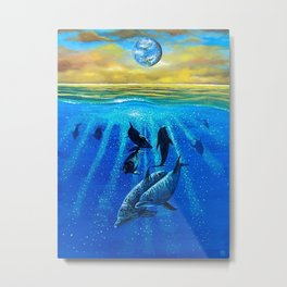 Earth Consciousness Number 7 Metal Print