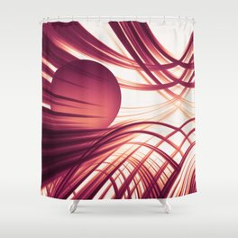 Abstract 187 Shower Curtain