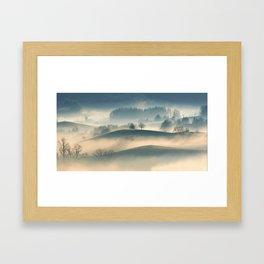 Foggy Hills Framed Art Print