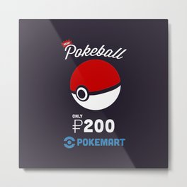 Pokeball Mart Metal Print