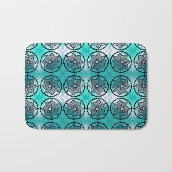Turquoise Dream Catcher Bath Mat