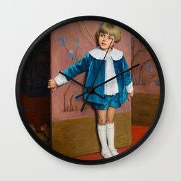 Vintage poster - François-Joseph Damien (Belgian, 1879-1973) Hide and seek. Wall Clock