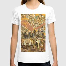 louisville city skyline 2 T-shirt
