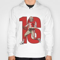 nfl Hoodies featuring NFL Legends: Joe montana 49ers by Akyanyme