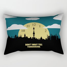 Lab No. 4 -Don't Wait Till Tomorrow Corporate Start-Up Quotes Rectangular Pillow