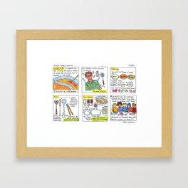 shabu shabu  Framed Art Print