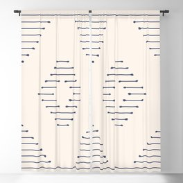 Boho Mudcloth lines Blackout Curtain