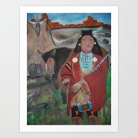 Solitary Warrior Art Print