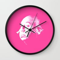 hitchcock Wall Clocks featuring Hitchcock by WeEatDesign