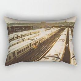 NYC Trains Rectangular Pillow