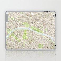 Paris SGB Watercolor Map Laptop & iPad Skin