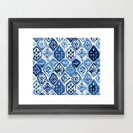 Arabesque tile art Framed Art Print
