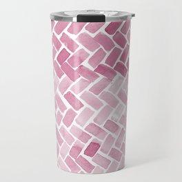 pink pavement Travel Mug