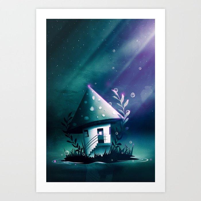 Magic Mush Room Art Print