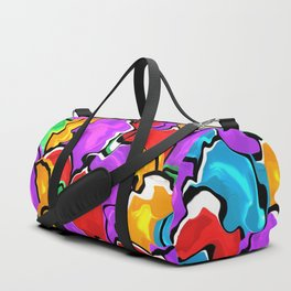 Colorful Scrambled Eggs Duffle Bag