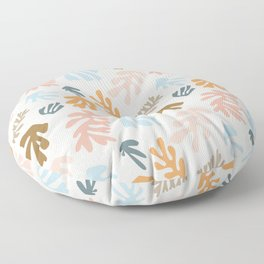 Seaweeds and sand Floor Pillow