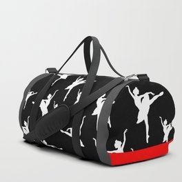 Ballerina silhouette (black) Duffle Bag