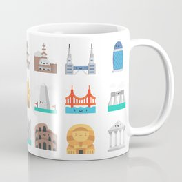 CUTE FAMOUS MONUMENTS PATTERN Coffee Mug