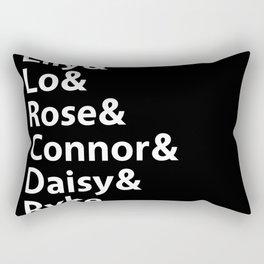 Addicted Series Gang Black Rectangular Pillow