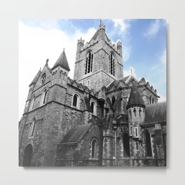 Christchurch in Blue Metal Print