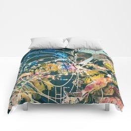 Art Graffiti vintage 4 Comforters