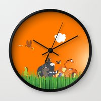 What's going on in the jungle? Kids collection Wall Clock