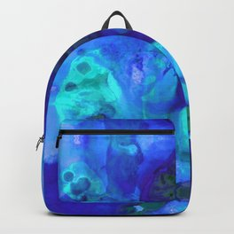 Violet Blue - Abstract Art By Sharon Cummings Backpack