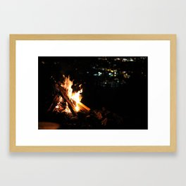 Fire with a view Framed Art Print