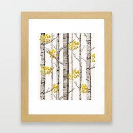Birch Love Framed Art Print