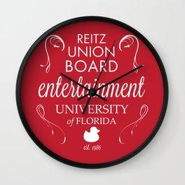 Reitz Union Board Entertainment at the University of Florida Wall Clock