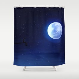 Jimin Serendipity Talking to the Moon Shower Curtain