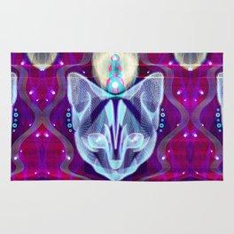 Pixel Galacticat Mirror Rug