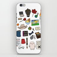 doctor who iPhone & iPod Skins featuring Doctor Who by Shanti Draws