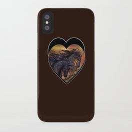 HORSES - On sugar mountain iPhone Case