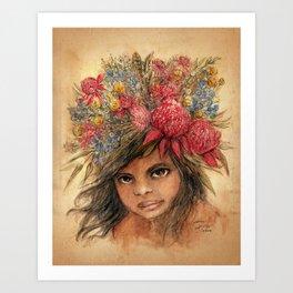 Waratah Art Print