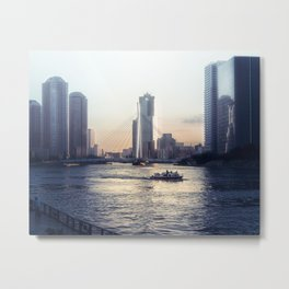 Happiness comes in waves Metal Print