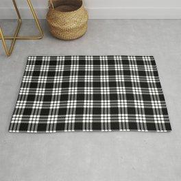 MacFarlane Black + White Tartan Modern Rug