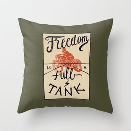 Freedom biker print Throw Pillow