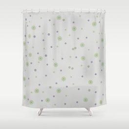 Gentle Green Dots Shower Curtain