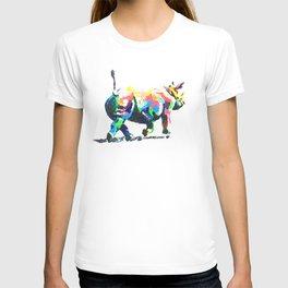 Rainbow Rhino T-shirt