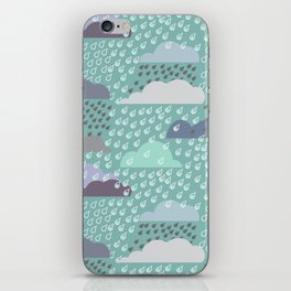 autumn rain pattern iPhone Skin