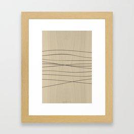 Smooth Stripes Framed Art Print