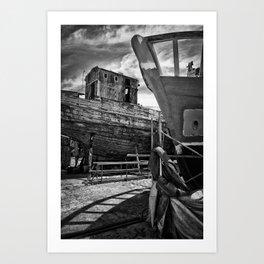Cimetière de bateaux Art Print