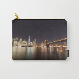 Manhattan Lights including Brooklyn Bridge, One World Trade Carry-All Pouch