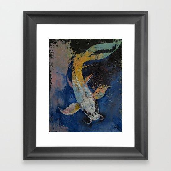 Dragon Koi Framed Art Print