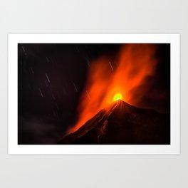 Real Eruption Art Print
