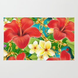 tropical color party  Rug