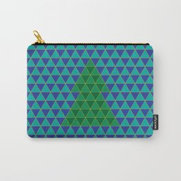 Christmas tree triangles Carry-All Pouch