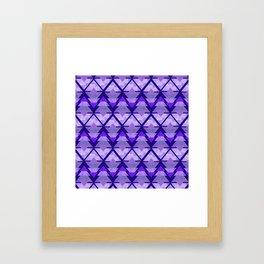 Geometric Forest on Purple Framed Art Print